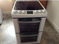 Electric Cooker, 4 ring, grill and oven, 55cm wide