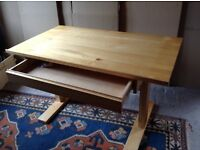 Drawing table with adjustable top, draughtsman style desk.