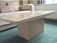 Marble effect modern contemporary coffee table.