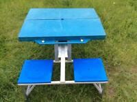 Plastic and Metal Picnic Bench