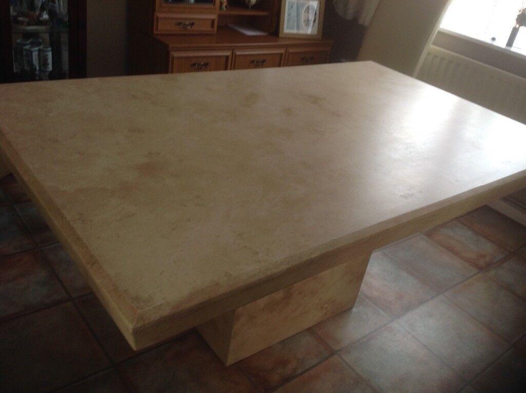 Large Elegant Marble Dining Table