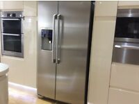 AEG American style fridge freezer for sale, stainless steel, water, ice dispenser, in good condition