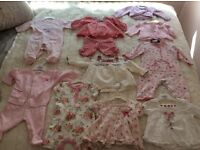 Bundle of Girl's Baby Clothes 3-6 months