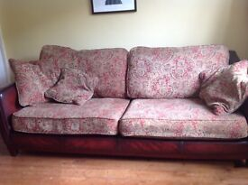 Leathers and fabric sofa and armchairs