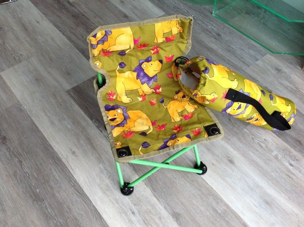 Fun fold-up seat for child