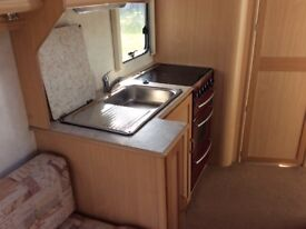Eldis Advantage 482, 2 berth caravan. 2002. Large double bed. Separate shower room. High spec.