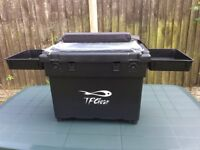 Brand New!!! T. F Gear Seat Box with padded shoulder strap, foam seat pad and 2 side trays