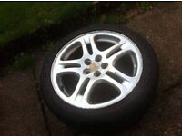 "17"" SUBARU ALLOY WHEEL WITH MINT TYRE"