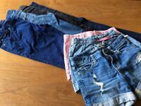 Girls jeans and shorts bundle 9/10 years