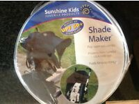 Universal sun shade for buggy
