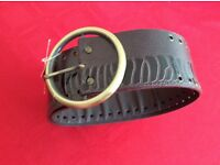 Brand New Black Mock Croc Belt