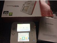 2ds console boxed with games