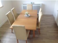 Marks and Spencer Lichfield Extending Dining Table and six Chairs