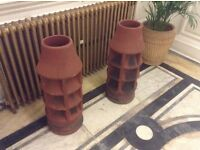 LARGE TERRACOTTA CHIMNEY POTS