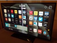 LUXOR 42 inch Slimline Smart LED FULL HD TV built-in Wifi, Freeview HD, fully working