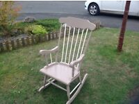 Wooden Rocking chair preloved and in great condition