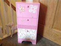 Next Girls set of drawers,pink,gingham,polka dots,flowers