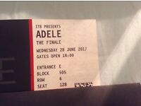 Adele The Finale Tickets x2 Wednesday 28th June Wembley
