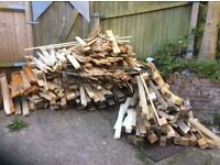 Big pile of chopped wood free to collect