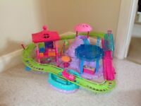 Polly pocket roller coaster and water slide