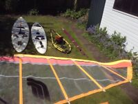 2 windsurfer, Alpha298 and Tiga260 with one rig including Fanatic 6.6 sail and all equipment shown.