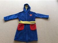 Boys Superman Dressing Gown