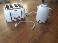 Breville impressions white kettle and toaster set
