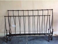 Laura Ashley cast iron sleigh bed