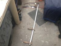 Large aluminium two handled modern scythe