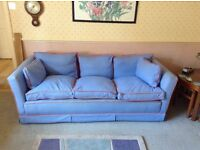 Lovely handmade light blue sofa and 2 chairs. Good second hand condition. £80 Ono. 01403 262224