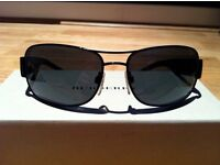 Burberry Sunglasses Authentic Black Rectangular Used Perfect Condition Box, case, cloth, receipt