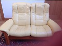 Leather 2 Seater Sofa - Stressless Recliner