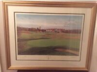 Graham Baxter signed golf print