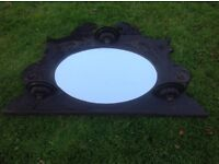 Antique Victorian Mahogany Mirror