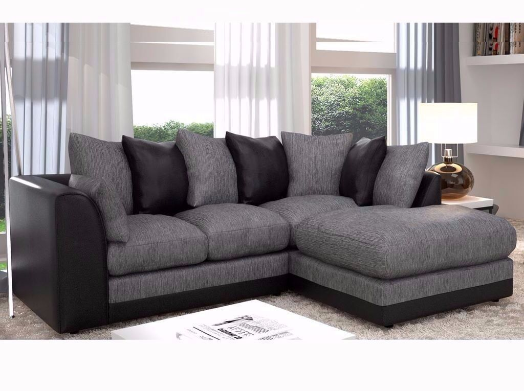 Brand New Dylan Chinnille Jumbo Fabric Corner Sofa Set On