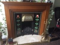 Victorian style fireplace-replacement ornate tiles