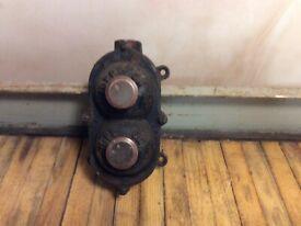 Vintage antique steampunk industrial light switch