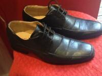 Black casual shoes size 8/uk42