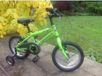 Childrens ridgeback bike with stabilisers