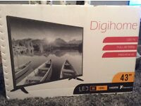 """Brand New Unopened 43"""" Digihome TV with Freeview"""
