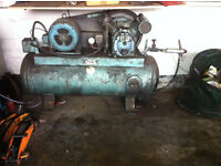 Garage equipment large 3 phase compressor, bench table