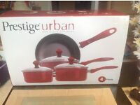 Brand New Red Prestige Urban non stick cookware