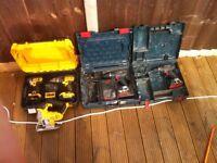 job lot drills and jigsaw dewalt bosch