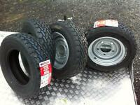 Plant trailer wheels tyres ifor Williams nugent Dale kane trailer parts