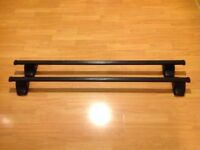 Thule 769 (127cm) Square Roof Bars fitted with 754 Foot Pack (No Locks)