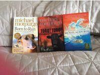 Set of 3 Michael Morpurgo books