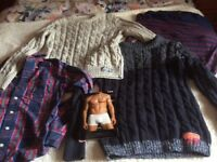 Men's variety jumpers ( Superdry, Jack & Jones, Hollister shirt)