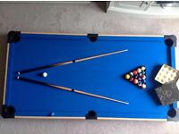 Kiddies Foldaway Pool Table with accessories
