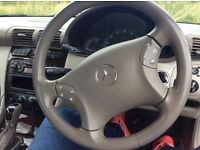 Mercedes benz elegance c class automatic petrol2,0 reg02 black