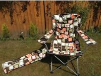 Folding camping chairs retro colours